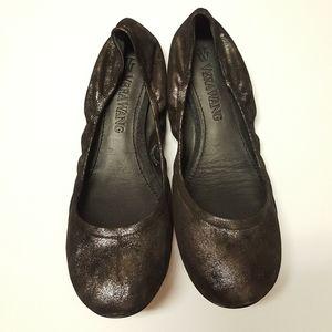 NEW #VERA WANG blk LILLIAN #metallic #balletflats